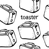 Toaster pattern Stock Image