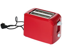 Toaster of red colour Royalty Free Stock Photos