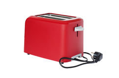 Toaster of red colour Royalty Free Stock Images