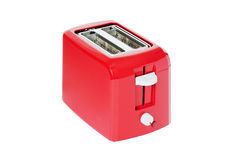 Toaster of red colour Stock Photography
