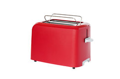 Toaster of red colour Royalty Free Stock Photo