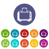 Toaster set icons Royalty Free Stock Photography