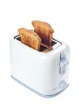 Toaster with slices of bread royalty free stock photos