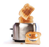 Toaster with slices of toast Royalty Free Stock Photo