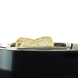Toaster and to toasts. Toaster and two hot toasts ready for the breakfast Royalty Free Stock Photography