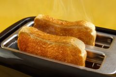 Toaster with toasts Stock Photo