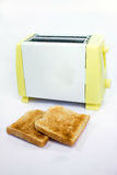Toaster with toasts. Toast in a toaster breakfast meal concept Stock Photos