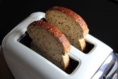 Toaster with two slices of bread Stock Image