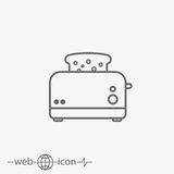 Toaster vector icon Stock Photography