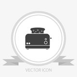 Toaster vector icon Royalty Free Stock Photography