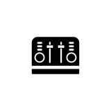 Toaster vector icon Stock Image