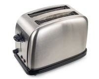 Toaster. On white background. Aluminum Royalty Free Stock Photos