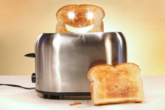 Toaster With Two Slices Of Bread Royalty Free Stock Image