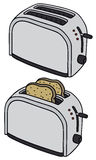 Toasters. Hand drawing of two electric toasters Stock Photos