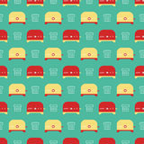Toasters pattern Royalty Free Stock Photos
