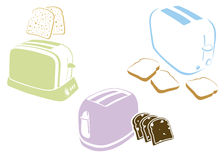 Toasters set vector illustration
