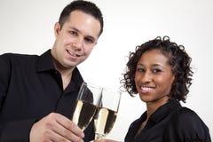 toasting пар Стоковое Изображение