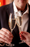 Toasting с шампанским Стоковое фото RF
