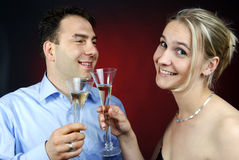 Toasting Royalty Free Stock Photos