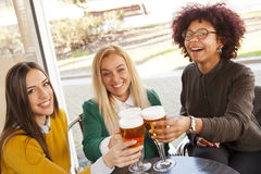 Toasting with beer Royalty Free Stock Photos