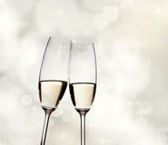 Toasting with champagne glasses Stock Images