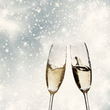 Toasting with champagne glasses Stock Photo