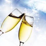 Toasting with champagne glasses Royalty Free Stock Photo