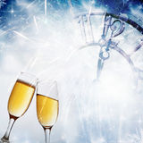 Toasting with champagne glasses Stock Photography
