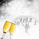 Toasting with champagne glasses Royalty Free Stock Image