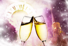 Toasting with champagne glasses Royalty Free Stock Photography