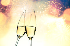 toasting with champagne glasses Royalty Free Stock Photos