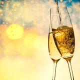 toasting with champagne glasses Royalty Free Stock Images
