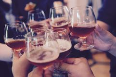 Toasting Cheers Stock Image