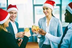 Toasting for Christmas Stock Image