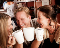 Toasting with Coffe Cups Stock Photography