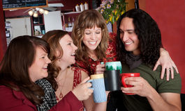 Toasting with Coffee Cups Stock Images