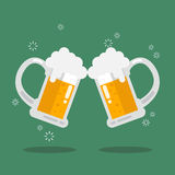 Toasting glasses of beer Stock Image