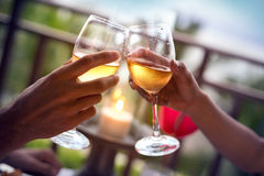 Toasting glasses Stock Images