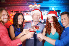 Toasting for holiday Royalty Free Stock Photo