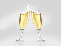 Toasting the new. With a champagne cup Stock Photography