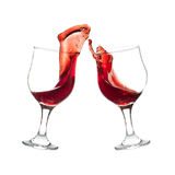 Toasting with Red Wine Royalty Free Stock Photography