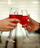 Toasting with wine Stock Image
