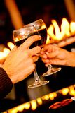 Toasting with wine Stock Photography