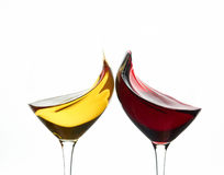 Toasting wine glasses. Isolated, concept Stock Image