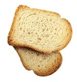 Toasts. Two slices of toasted bread Royalty Free Stock Photography