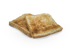 Toasts. Breakfast meal concept. Couple of Toast Royalty Free Stock Photography