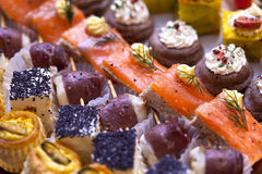 Toasts and canapes Stock Photography