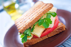 Toasts with cheese Royalty Free Stock Photos
