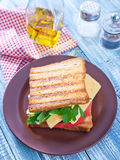 Toasts with cheese Royalty Free Stock Photography