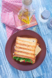 Toasts with cheese Royalty Free Stock Photo